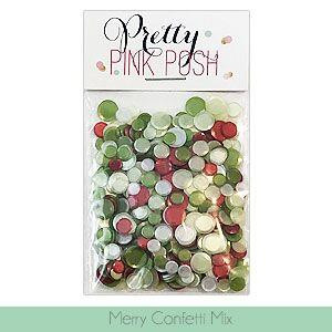 Merry, Pretty Pink Posh Confetti Mix -