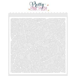 Christmas Background, Pretty Pink Posh Stencils -