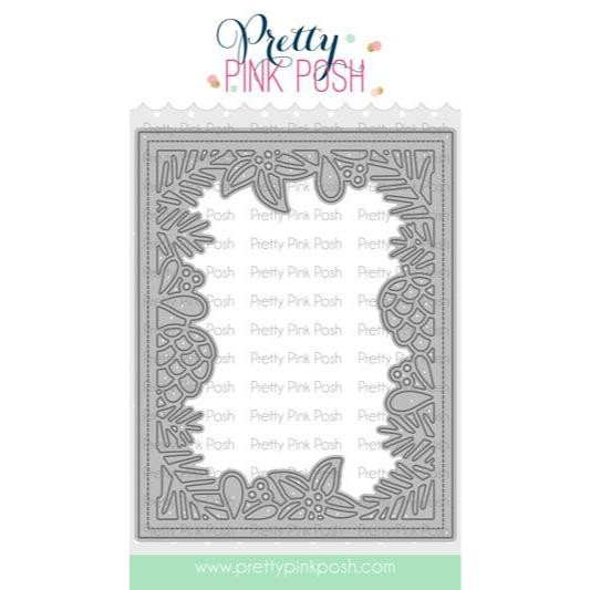 Winter Frame, Pretty Pink Posh Dies -