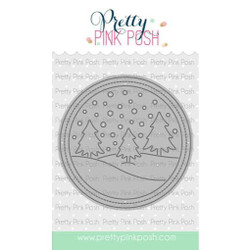 Winter Scene, Pretty Pink Posh Dies -