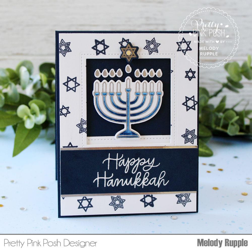Happy Hanukkah, Pretty Pink Posh Clear Stamps -