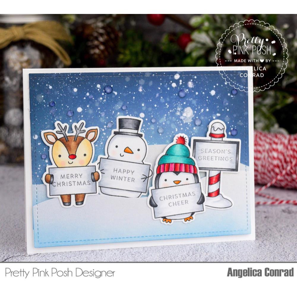 Holiday Signs, Pretty Pink Posh Clear Stamps -