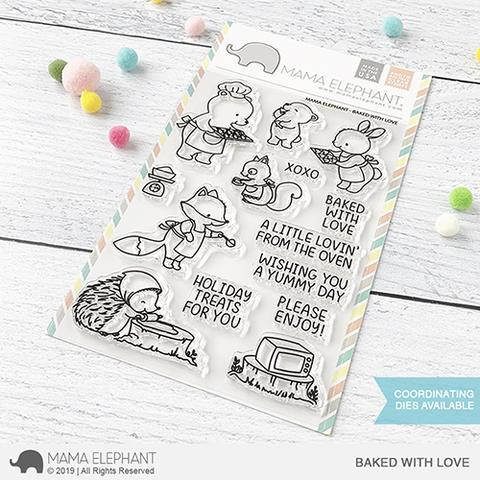 Baked With Love, Mama Elephant Clear Stamps -