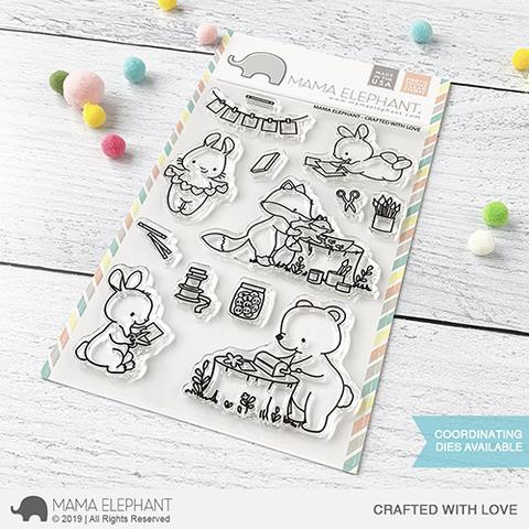Crafted With Love, Mama Elephant Clear Stamps -