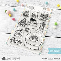 Snow Globe Bitties, Mama Elephant Clear Stamps -
