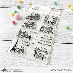 Snow Globe Scenes, Mama Elephant Clear Stamps -