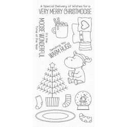Merry Christmoose By Birdie Brown, My Favorite Things Clear Stamps - 849923032886
