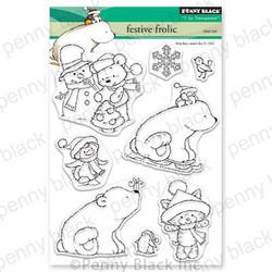 Festive Frolic, Penny Black Clear Stamps - 759668306305