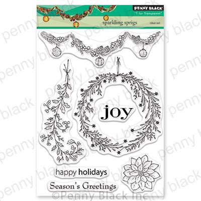 Sparking Sprigs, Penny Black Clear Stamps - 759668306329