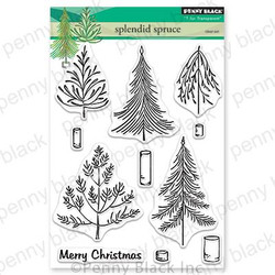 Splendid Spruce, Penny Black Clear Stamps - 759668306398