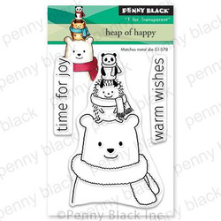 Heap Of Happy, Penny Black Clear Stamps - 759668306404