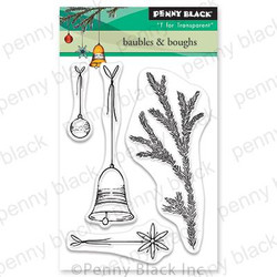 Baubles & Boughs, Penny Black Clear Stamps - 759668306411