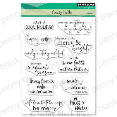 Frosty Hello, Penny Black Clear Stamps - 759668306497