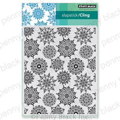 Snowflake Pattern, Penny Black Cling Stamps - 759668407064