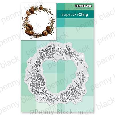 Conifer Wreath, Penny Black Cling Stamps - 759668407132