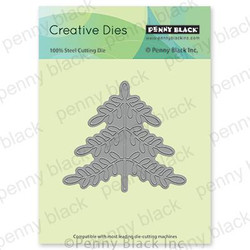 Folk Art Xmas Tree, Penny Black Dies - 759668515707