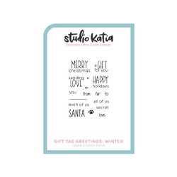 Gift Tag Greetings: Winter, Studio Katia Clear Stamps - 0013415374260
