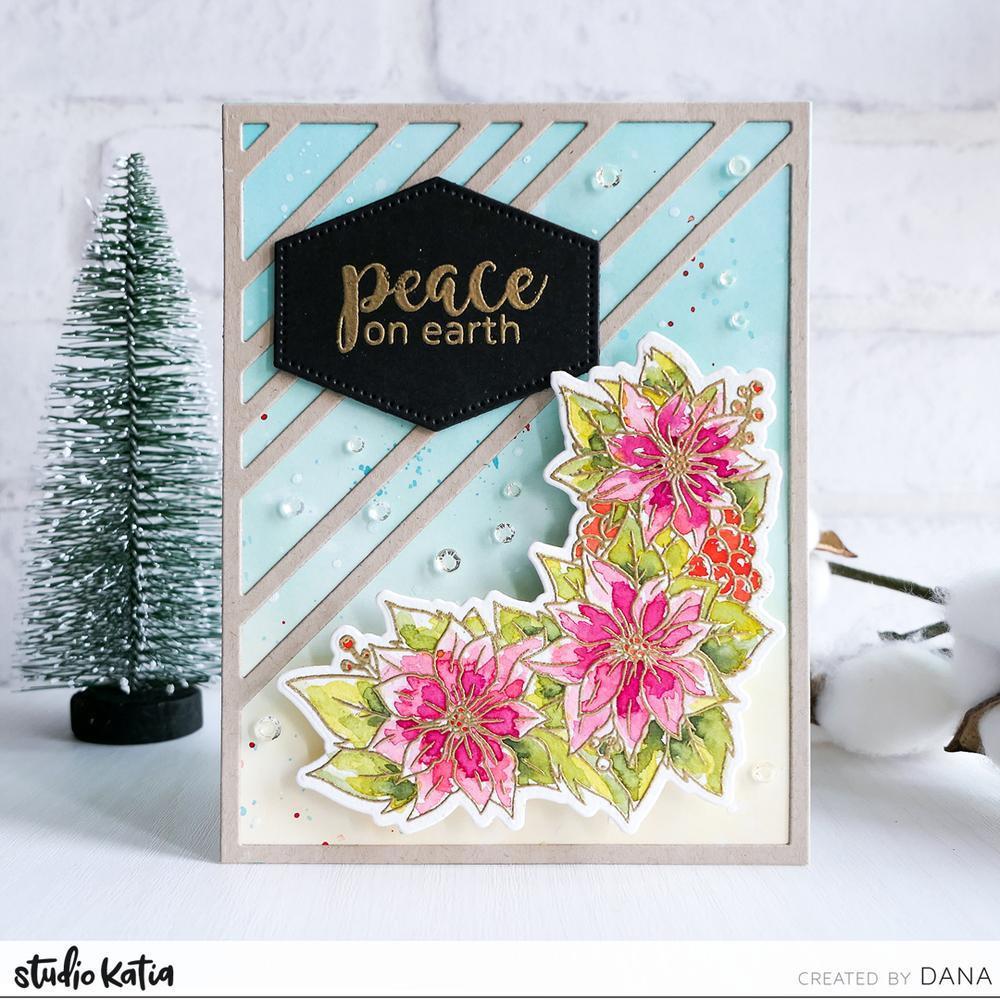 Poinsettia Border, Studio Katia Dies - 0013415374284