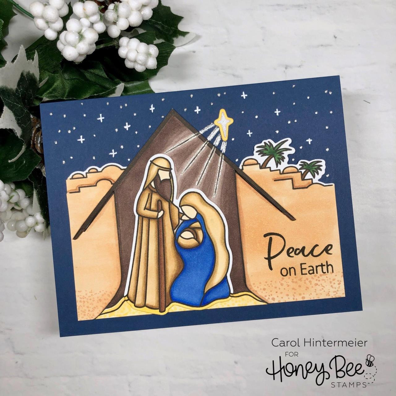 Christ Is Born, Honey Bee Clear Stamps - 652827605243