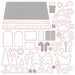Gingerbread House Add-On, Honey Cuts Dies - 652827604833