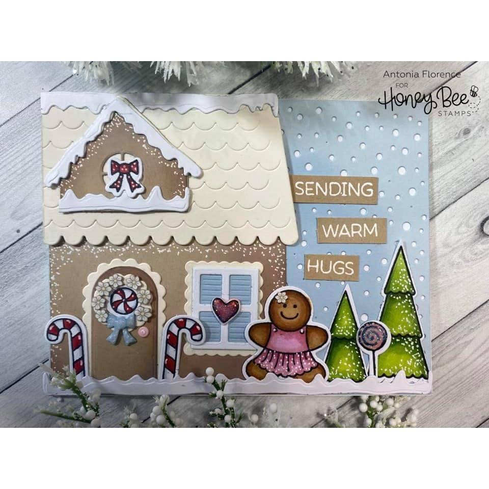 Gingerbread House Add-On, Honey Bee Clear Stamps - 652827605229