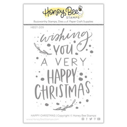 Happy Christmas, Honey Bee Clear Stamps - 652827605298