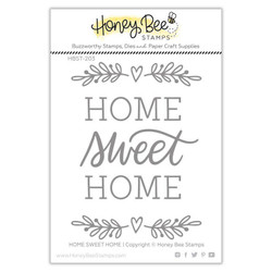 Home, Sweet Home, Honey Bee Clear Stamps - 652827605236