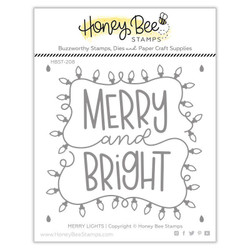 Merry Lights, Honey Bee Clear Stamps - 652827605281