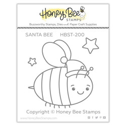 Santa Bee, Honey Bee Clear Stamps - 652827605205
