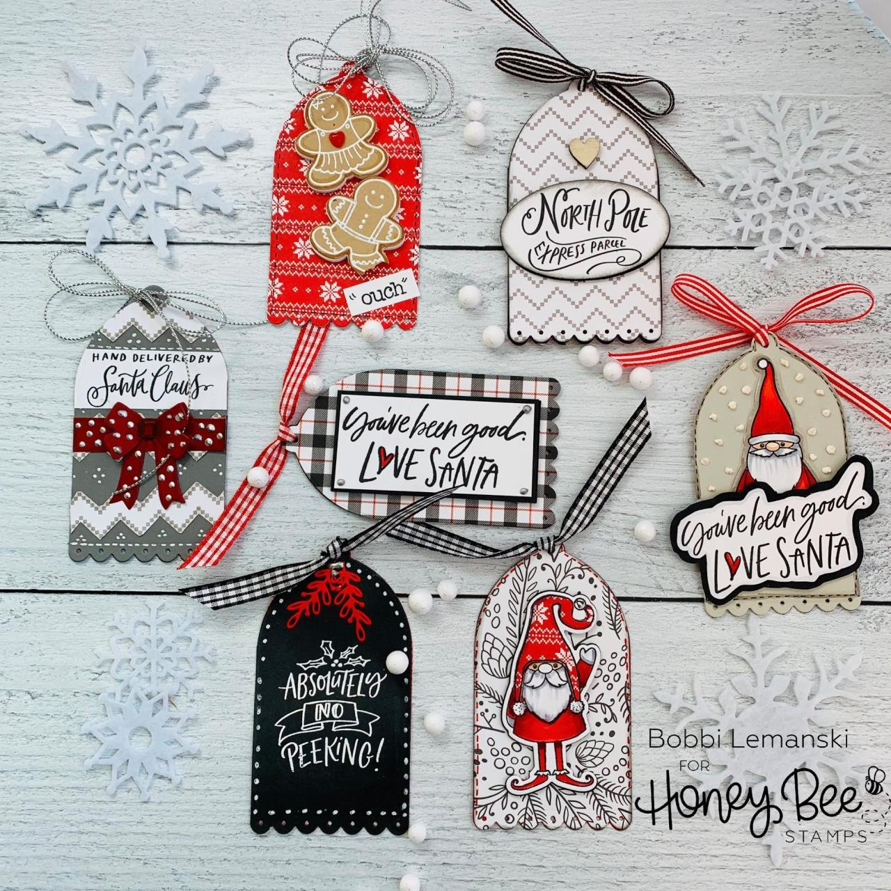 Santa Express, Honey Bee Clear Stamps - 652827605212