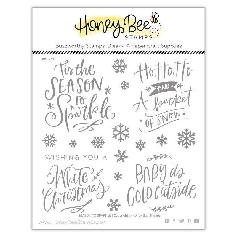 Season to Sparkle, Honey Bee Clear Stamps - 652827605274