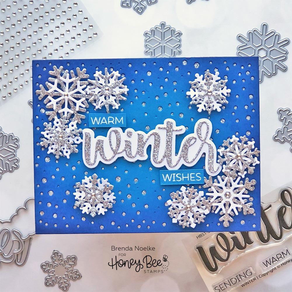 Winter, Honey Bee Clear Stamps - 652827605311