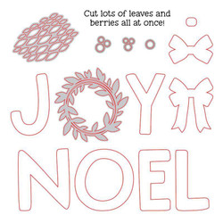Joy Noel Wreath, Honey Cuts Dies - 652827604673