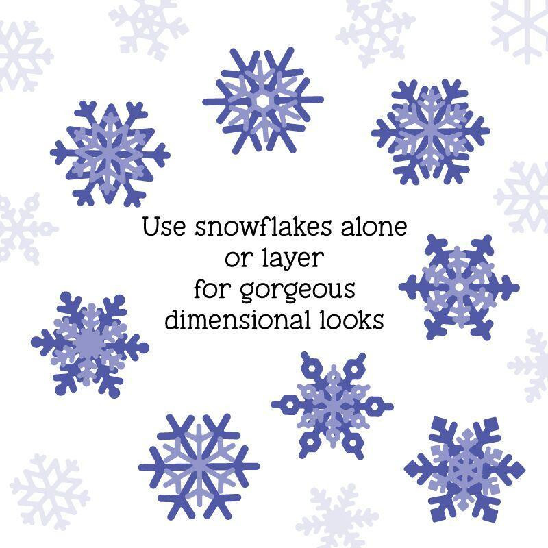 Layering Snowflakes, Honey Cuts Dies - 652827605045