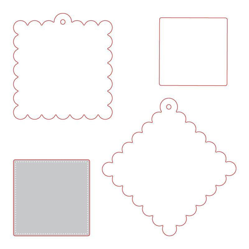 Scallop Square Gift Tag, Honey Cuts Dies - 652827604963