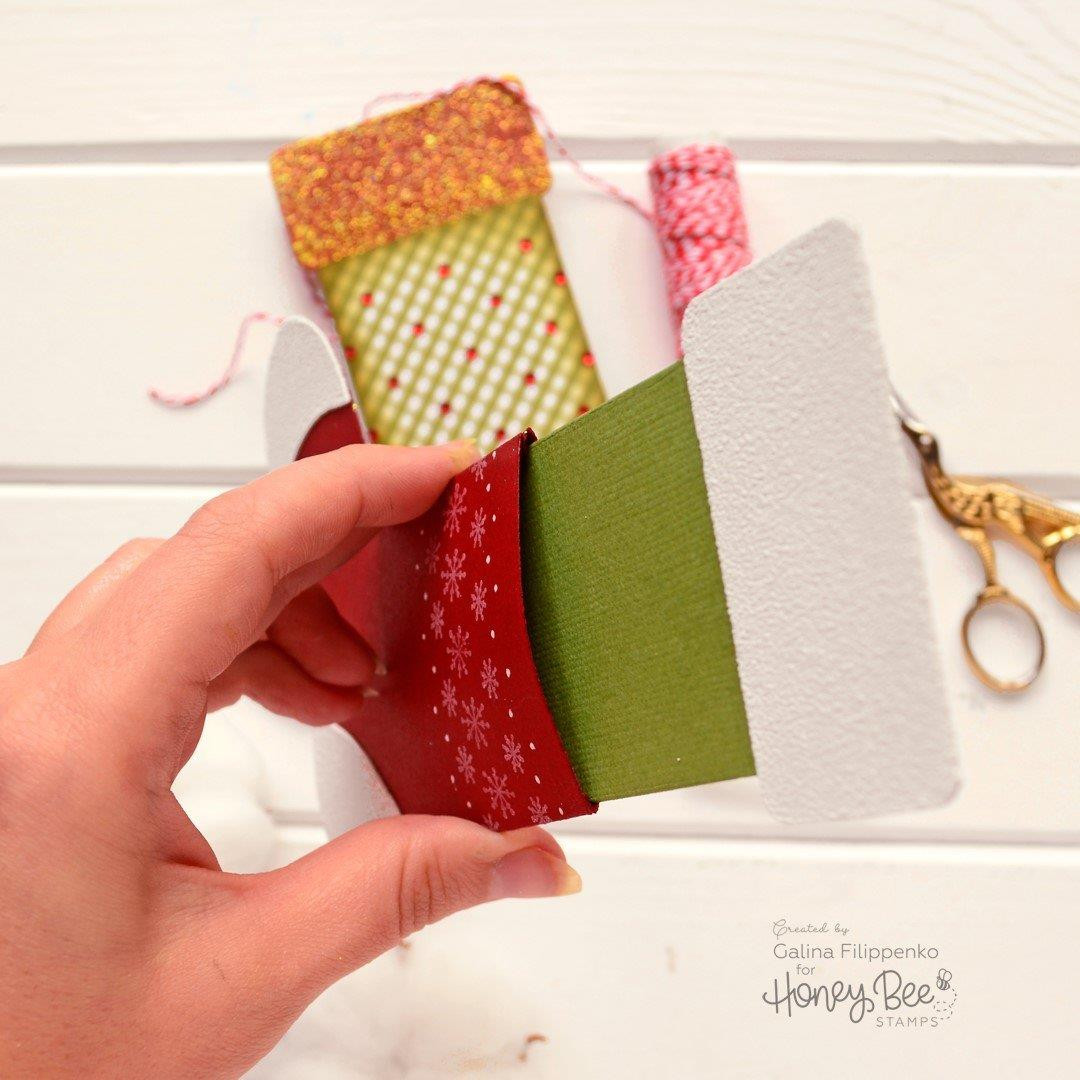 Stocking Gift Card Holder, Honey Cuts Dies - 652827604994