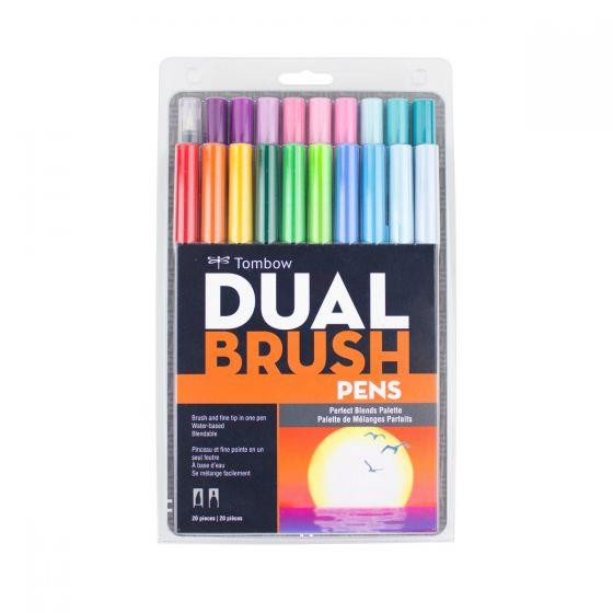 Perfect Blends Set of 20, Tombow Dual Brush Pens - 085014561938
