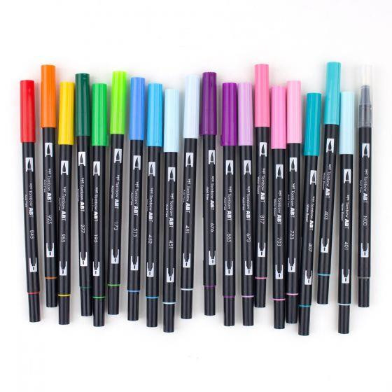 Perfect Blends Set of 20, Tombow Dual Brush Pens - 085014561938