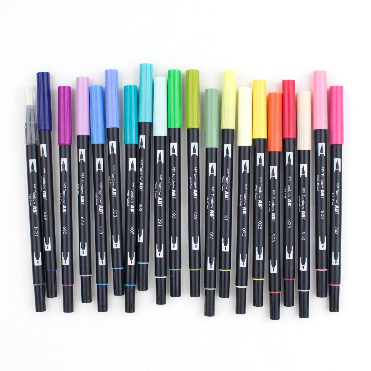 Floral Palette Set of 20, Tombow Dual Brush Pens - 085014561921