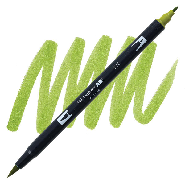 Light Olive (126), Tombow Dual Brush Pens - 085014565134
