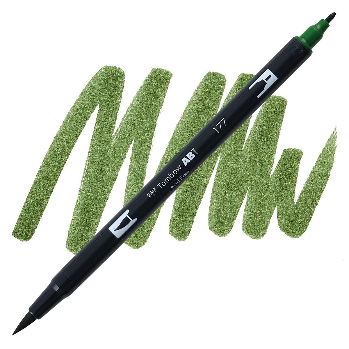 Dark Jade (177), Tombow Dual Brush Pens - 085014565196