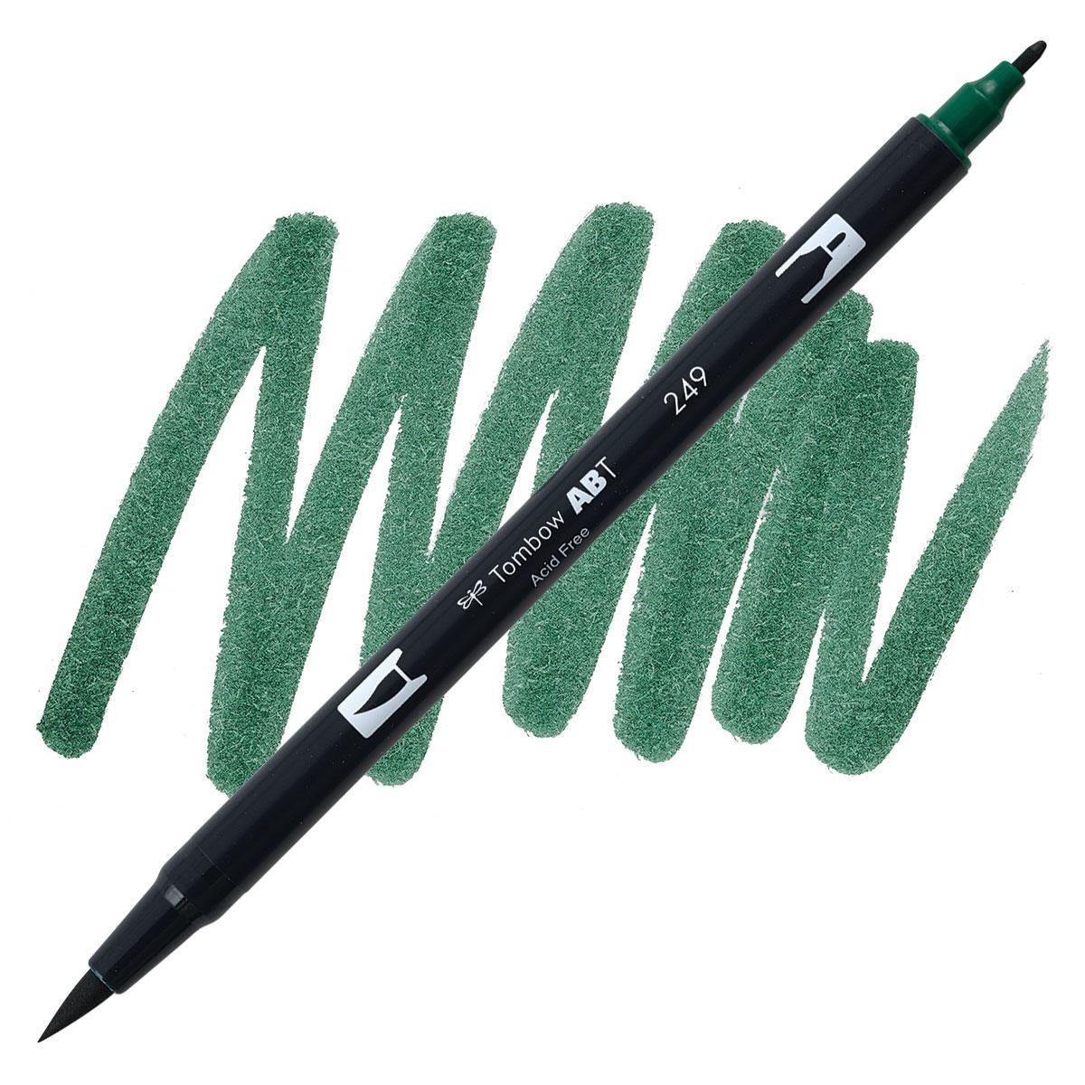 Hunter Green (249), Tombow Dual Brush Pens - 085014565288