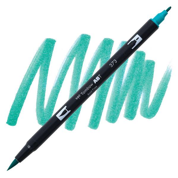 Sea Blue (373), Tombow Dual Brush Pens - 085014565448