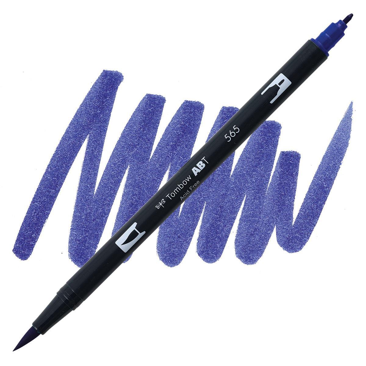 Deep Blue (565), Tombow Dual Brush Pens - 085014565660