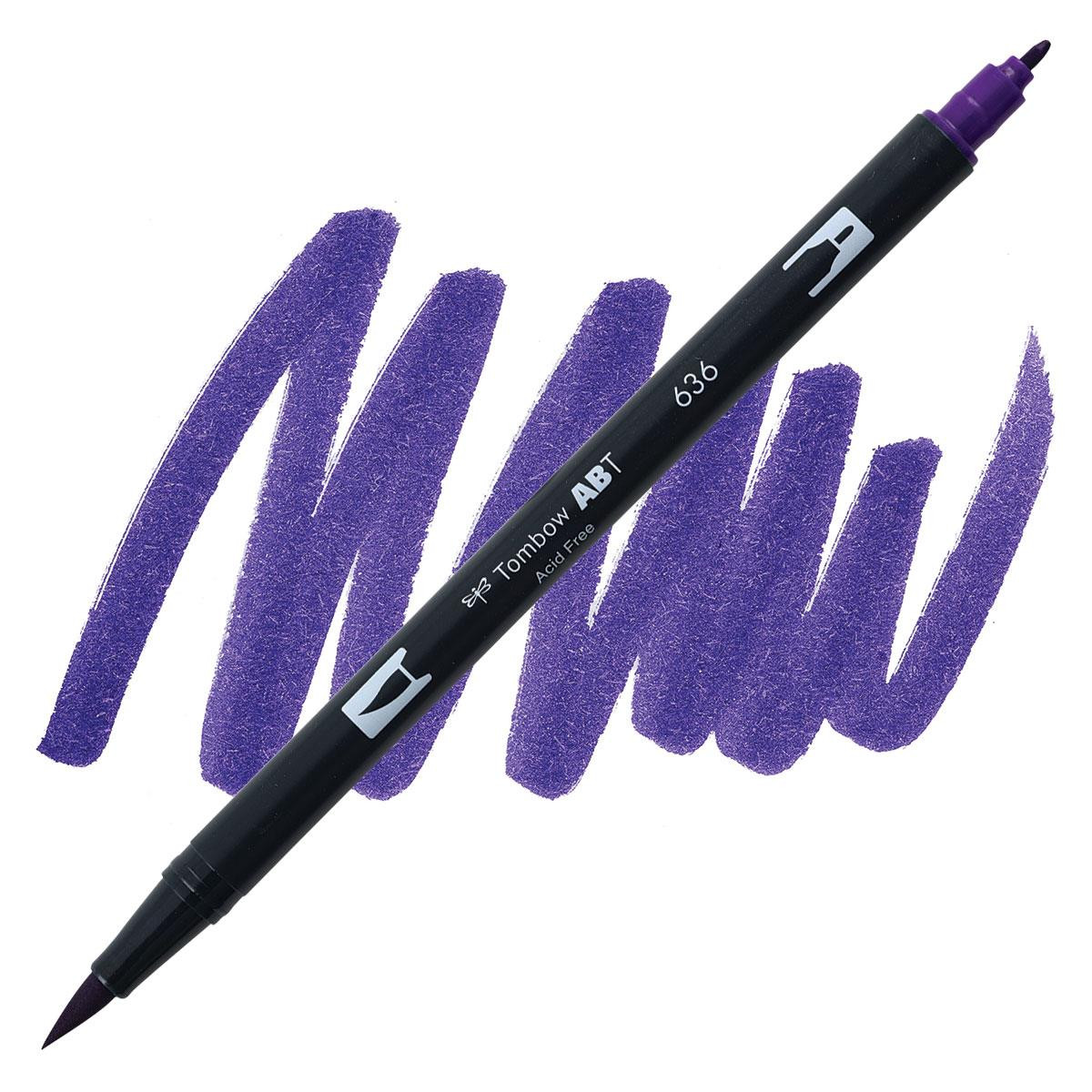 Imperial Purple (636), Tombow Dual Brush Pens - 085014565714