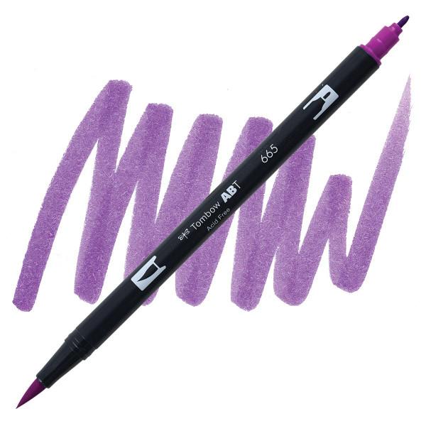 Purple (665), Tombow Dual Brush Pens - 085014565745