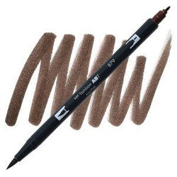 Brown (879), Tombow Dual Brush Pens - 085014566025