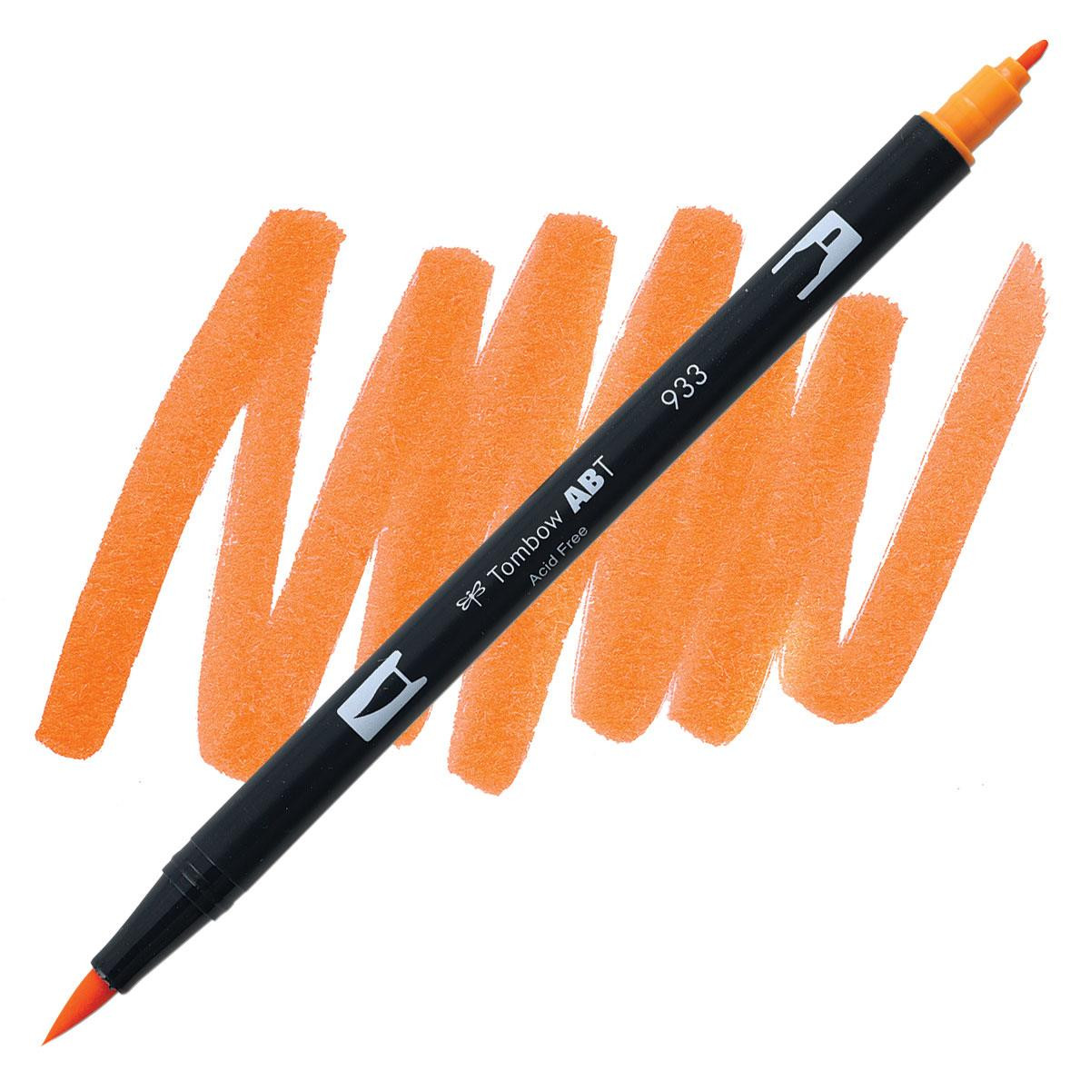 Orange (933), Tombow Dual Brush Pens - 085014566094