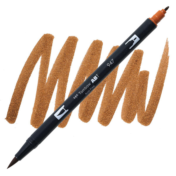 Burnt Sienna (947), Tombow Dual Brush Pens - 085014566124