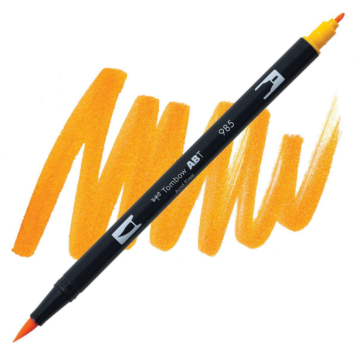 Chrome Yellow (985), Tombow Dual Brush Pens - 085014566162